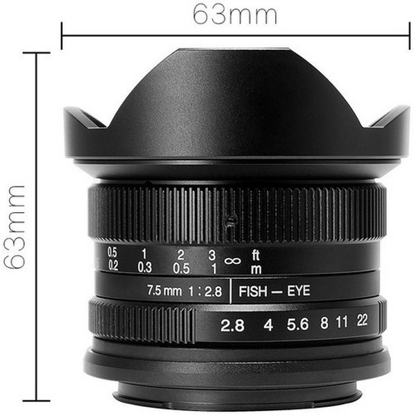 7artisans Photoelectric 7.5mm f/2.8 Fisheye Lens