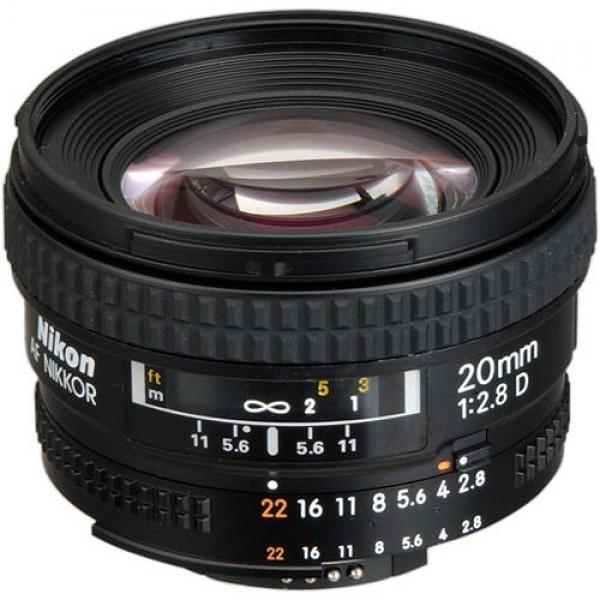 Nikon AF NIKKOR 20mm f/2.8D Lens