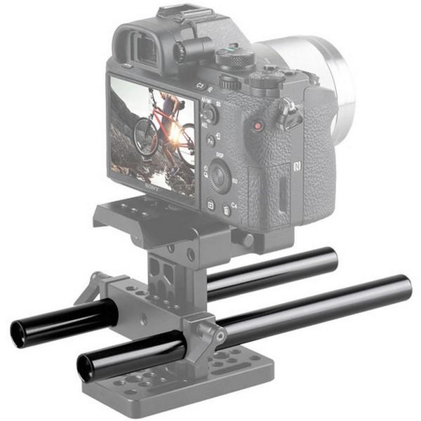 SmallRig 2pcs 15mm Black Aluminum Alloy Rod(M12-20cm) 8inch 1051