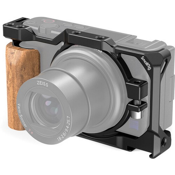 SmallRig Cage with Wooden Handgrip for Sony ZV1 Ca...