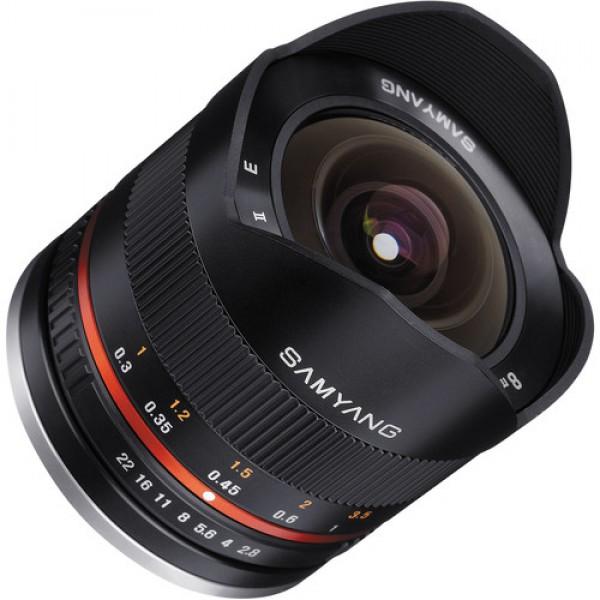 Samyang 8mm f/2.8 Fisheye II Lens